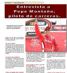 Entrevista a Pepe Montaño piloto de Nascar para la sección #DeporteyNaturaleza de #Revista400 @400revista Sandra Mendoza Barrera Publicada en la Revista 400