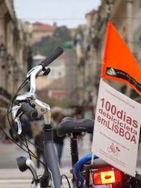 """bike lisboa - O projecto """"100 dias de bicicleta em Lisboa""""."""