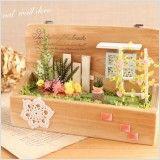 【作家さん×Acorn-Styleコラボ*】ミニチュア雑貨ブリキGarden:オシャレかわいい雑貨のお店 Acorn-Style* Cutting Board, Wood Art, Crates, Gardens, Pictures, Cutting Boards