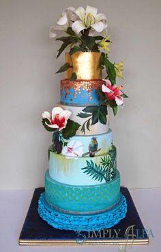 Hummingbirds Cake for Cake International 2014 - Gold award - Cake by Alpa Boll - Simply Alpa Themed Wedding Cakes, Themed Cakes, Beautiful Cakes, Amazing Cakes, Mini Cakes, Cupcake Cakes, Cupcakes, Hawaian Party, Cake International