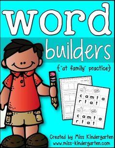 Word Builders {-at family freebie}
