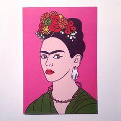 frida kahlo paintings Frida Kahlo Card by NoNaffCards on Etsy Frida Kahlo Artwork, Kahlo Paintings, Frida Art, Diego Rivera, Freda Carlo, Portrait, Frida And Diego, Buch Design, Arte Pop