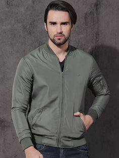 Winter Wear For Men, Charcoal, Bomber Jacket, Grey, Mens Tops, T Shirt, Jackets, How To Wear, Stuff To Buy