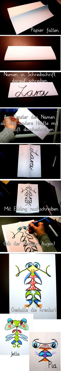 This is a fun and creative idea for you to write your name! Crafts To Do, Diy Crafts For Kids, Paper Crafts, Art Plastique, Teaching Art, Art Education, Kids Playing, Art Lessons, Diy Gifts