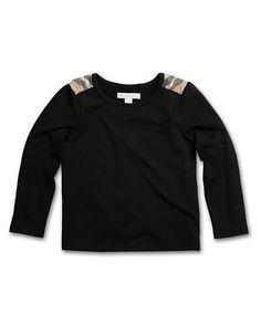 BURBERRY - L/S black shirt = YES