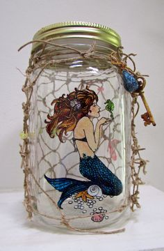 Love the shimmer of this fanciful Mermaid Jar from Remembering Life's Moments.