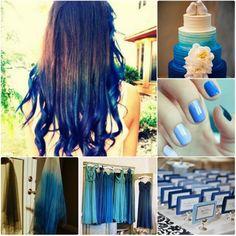 navy blue ombre wedding trends 2013 2014