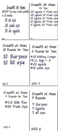 Crossfit circuit workout. need to start doing this shit.