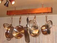 Hand Crafted Hanging Pot Rack #kitchen $89