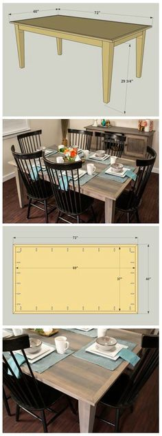 DIY Farmhouse Dining Table :: At buildsomething.com, you'll find FREE PLANS for great projects that are organized by space and by type, which makes it really easy to find the inspiration you want, plus the step-by-step instruction you need to turn that inspiration into reality.