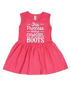 Loving this Raspberry 'Cowgirl Boots' Dress - Toddler & Girls on #zulily! #zulilyfinds