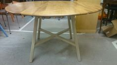 Top of this Ercol drop leaf table has been stripped ad re-finished the legs painted in Country Grey Chalkpaint™