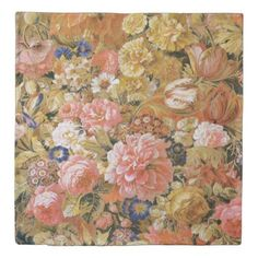 #personalize - #French Vintage Mixed Flowers Duvet Cover