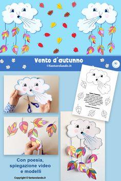 Weather Kindergarten, Preschool Weather, Spring Crafts For Kids, Diy Crafts For Kids, Autumn Activities, Preschool Activities, Autumn Art, Toddler Crafts, Creations