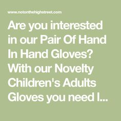 Are you interested in our Pair Of Hand In Hand Gloves? With our Novelty Children's Adults Gloves you need look no further. Cold Hands, Kids Hands, Hand Gloves, Wool Wash, Red And Grey, Hand Knitting, How Are You Feeling, Pairs, Messages