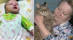 Sokağa Terkedilen Bebeği Kurtaran Kahraman Kedi: Masha - http://www.aylakkarga.com/sokaga-terkedilen-bebegi-kurtaran-kahraman-kedi-masha/