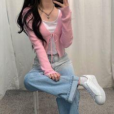 Korean Girl Fashion, Ulzzang Fashion, Kpop Fashion Outfits, Korean Outfits, Mode Outfits, Girly Outfits, Cute Casual Outfits, Pretty Outfits, Korean Fashion Styles