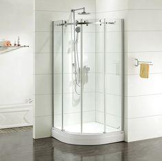 Душевые ограждения - актуальный тренд. Поскольку модные интерьеры тяготеют к легкости и невесомости, дизайнеры разработали кардинально новые душевые ограждения. ✨Их нельзя назвать кабинками в прямом понимании этого слова: тонкие, зачастую прозрачные стенки монтируются прямо на пол ванны или в стенки поддона, благодаря чему душевой бокс становится цельным элементом в оформлении интерьера. #дизайн #интерьер #стиль #ванная #сантехника #плитка http://santehnika-tut.ru/ograzhdeniya-i-poddony/