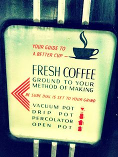 coffee signage- grinder panel