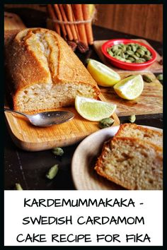 This Swedish Cardamom Cake recipe is a fika recipe, which is perfect for your tea time break or as a snack with your cup of coffee. MADE WITH PINGENERATOR.COM Swedish Cake Recipe, Cardamom Cake, Lactose Free Milk, Mango Cake, Fika, Cake Tins, Savoury Dishes, Coffee Break, Tea Time