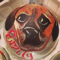 Personalized pet ornament. Just send me a pic!