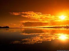 A vibrant sun set..!