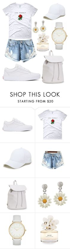 """""""White summer outfit"""" by sofkulin ❤ liked on Polyvore featuring Vans, Sole Society, Aéropostale, Laura Ashley and Marc Jacobs"""