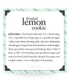 frosted lemon cookie #recipe #philosophy #holiday
