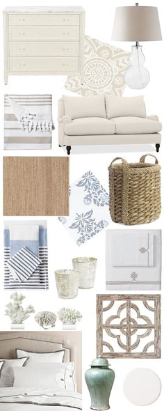 Coastal Decor, white, wicker, simplistic, furniture, home decor