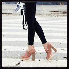 LvYuan-ggx Damen High Heels Komfort PU Frühling Normal Komfort Schwarz  Beige Grau Rosa 10
