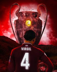 'Liverpool FC - Virgil Van Dijk Champions League Trophy' Poster by joejenx Liverpool Fc, Liverpool Tattoo, Liverpool Players, Liverpool Football Club, Champions League, Premier League, Lfc Wallpaper, Ucl Final, Liverpool Wallpapers