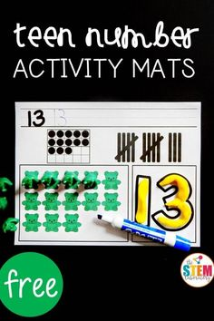 Teen Number Activity Mats