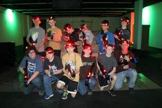 Great birthday party idea. Tactical laser tag is like video gaming except you breathe harder.