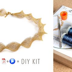A unique jewelry making kit in Yoola's wire crochet invisible spool knitting technique. with the kit you will learn how to wire crochet an elegant infinity necklace. Each design has its own Video tuto Diy Necklace, Crochet Necklace, Infinity Necklace, Pearl Necklace, Pearl Pendant, Diamond Pendant, Cross Pendant, Pendant Necklace, Collar Diy