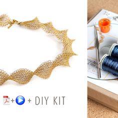 Infinity wire crochet necklace - DIY Kit