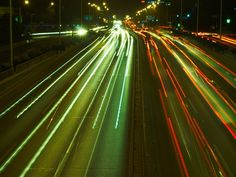 City traffic lights on time delay Motion Blur Photography, Love Photography, City Lights At Night, Always Cold, Traffic Light, Some Pictures, Cyberpunk, Passion, Babies