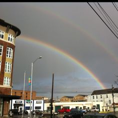 Double rainbow over Seattle