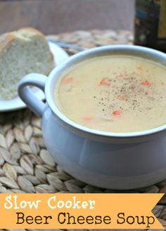 Slow Cooker Beer Cheese Soup, so yummy! http://themagicalslowcooker.com/2013/09/16/beer-cheese-soup/