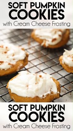 These Soft Pumpkin Cookies are perfectly moist and spiced, with a rich cream cheese frosting for good measure. They are easy to make and perfect for fall baking!