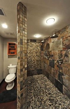 This kind of shower, where you walk around the corner and its like a 'cave'
