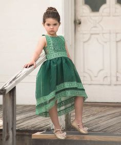Take a look at this Emerald Delphine A-Line Dress - Infant, Toddler & Girls today!