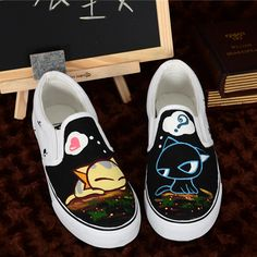 """Cartoon cat canvas shoes $27.00 Enter coupon code """"thingsfromjapan"""" to get 10%…"""