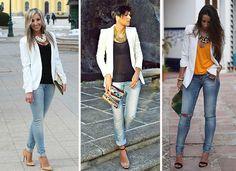 jeans com blazer feminino - Pesquisa Google