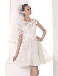 Short wedding dress vestidosdenoivaminiskirt
