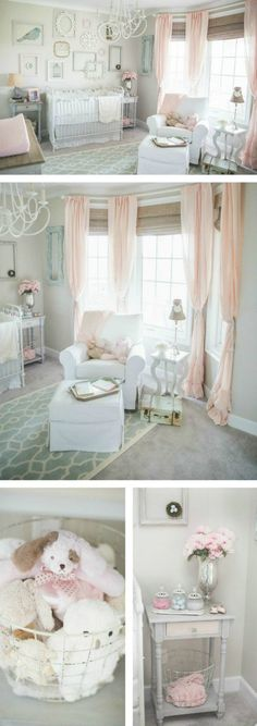 Dainty, Soft and Sweet Nursery - Project Nursery Pink and Gray Shabby Chic Baby Girl Nursery Baby Bedroom, Baby Room Decor, Girls Bedroom, Baby Rooms, Trendy Bedroom, Baby Girl Nurseries, Gray Nurseries, Master Bedroom, Room Girls