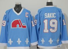2019 Cord Quebec Nordiques  19 Joe Sakic 21 Forsberg 26 Stastny 13  Sundin 32 BROUSSEAU White Drak Light Blue Hockey Jersey Stitched From  Candylilili a9754007bd1