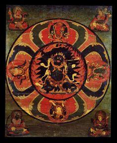 Mandala of Vajrayogini (Buddhist Deity) - Krodha Kali (Wrathful Black Varahi) Tibet