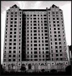 Lee Plaza Apartment Hotel (Alternative View, Black and White)--Detroit MI