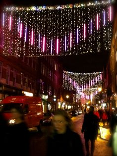 Christmas lights, London