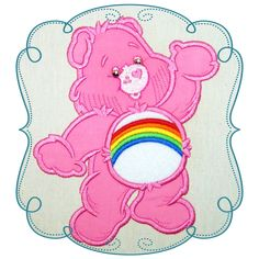 Care Bear Applique Machine Embroidery Design Pattern-INSTANT DOWNLOAD